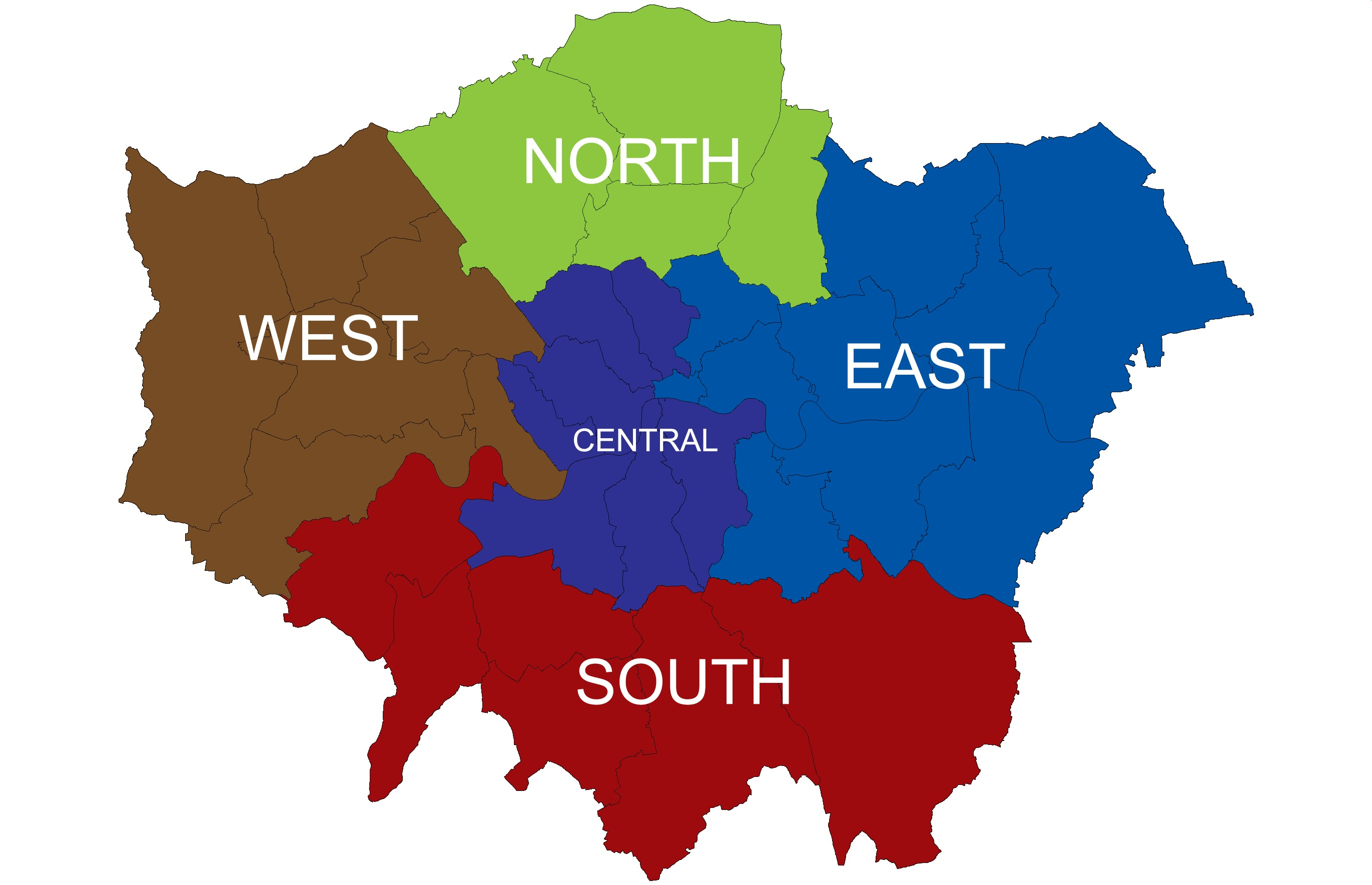 East London Uk Map.East London Silantro